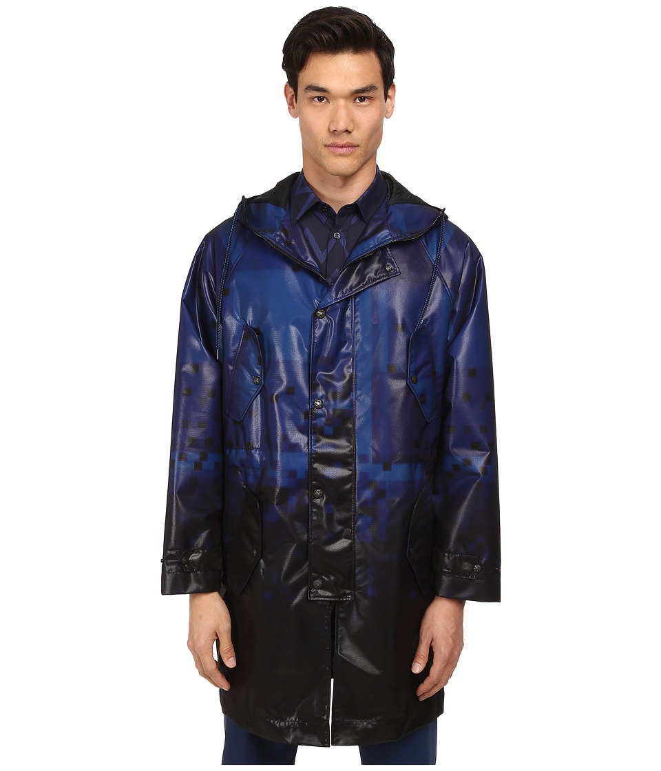 Vivienne Westwood MAN - Tartan Diamonds Nylon Parka (Black/Blue) Men's Clothing
