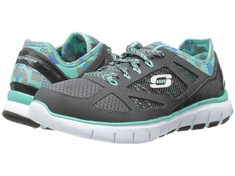 SKECHERS - Relaxed Fit Flex - Ultimate Reality (Gray Aqua) Women