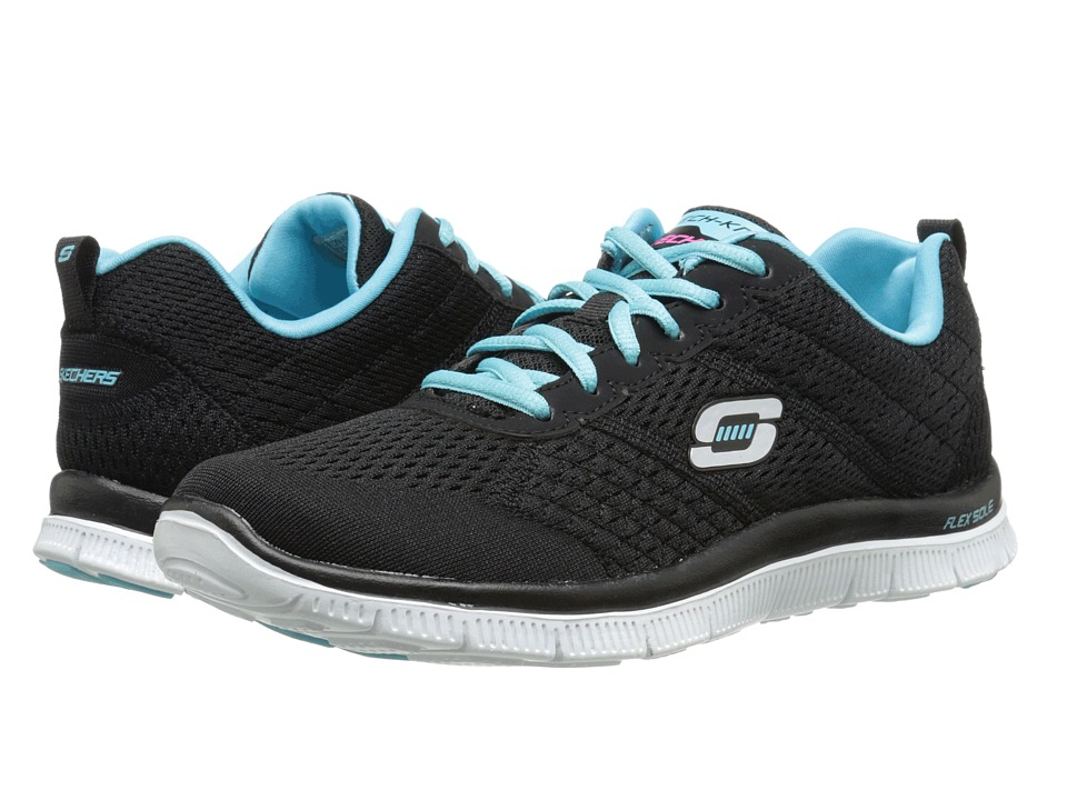 SKECHERS - Flex Appeal - Obvious Choice (Black Blue) Women's Running Shoes