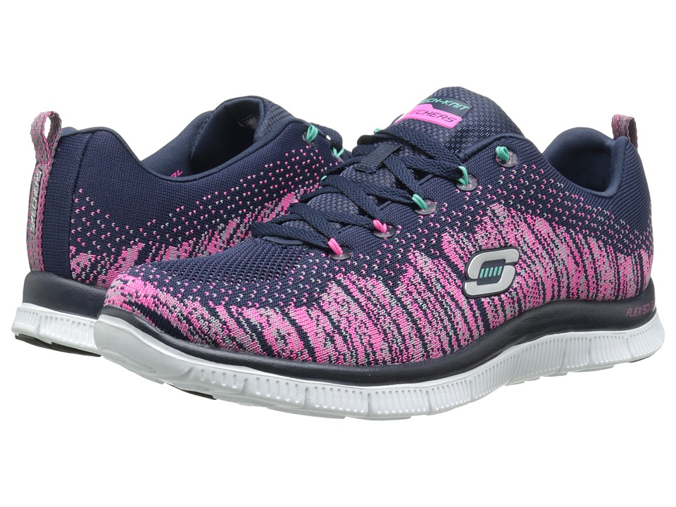 SKECHERS - Flex Appeal (Navy Mint) Women's Running Shoes
