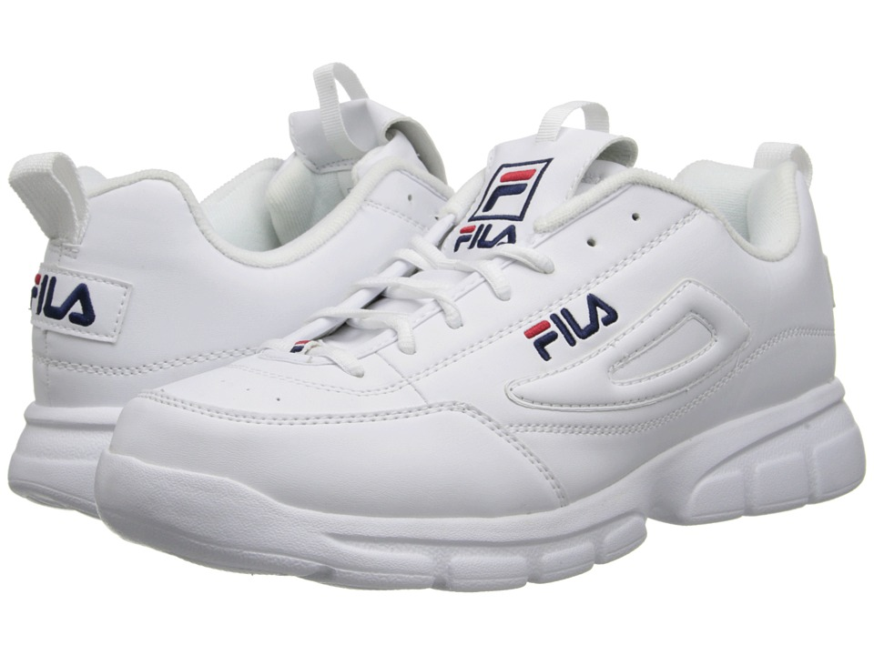 Fila Disruptor Se (White/Fila Navy/Fila Red) Men