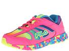 Fila Kids Runabout (Little Kid/Big Kid) (Knockout Pink/Safety Yellow/Aruba Blue) Girls Shoes
