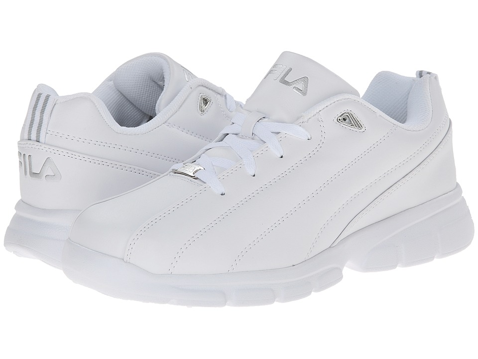 Fila - Leverage (White/Silver) Men's Shoes