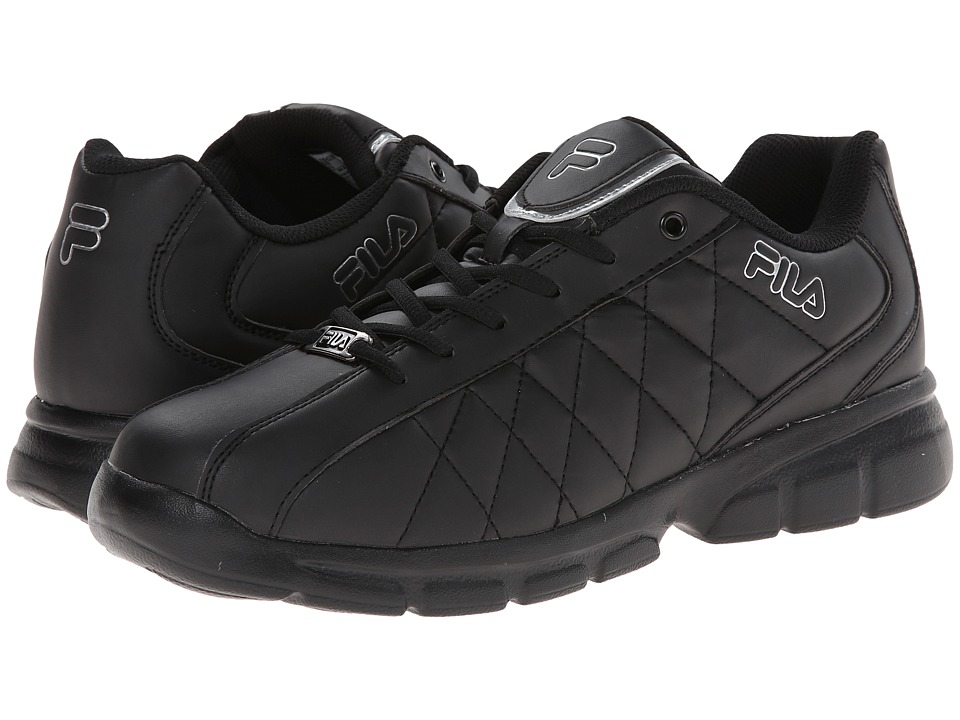 Fila - Fulcrum 3 (Black/Black/Metallic Silver) Men's Shoes