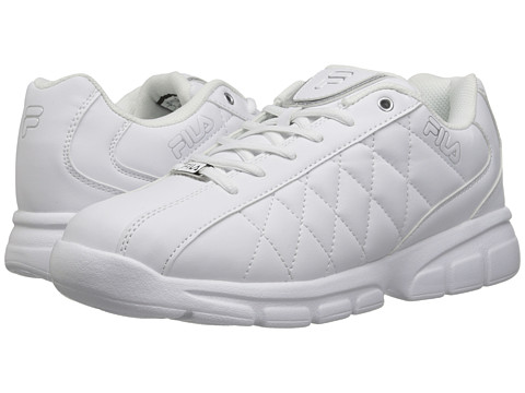 Fila - Fulcrum 3 (White/White/Metallic Silver) Men's Shoes
