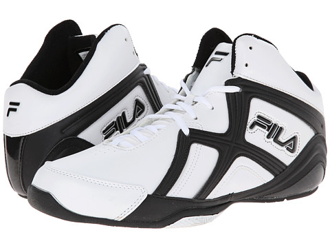 Fila - Revenge 2 (White/Black/Metallic Silver) Men's Basketball Shoes