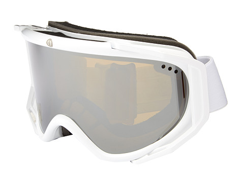 Electric Eyewear - RIG Gloss White Bonus Lens (Bronze/Silver Chrome) Snow Goggles