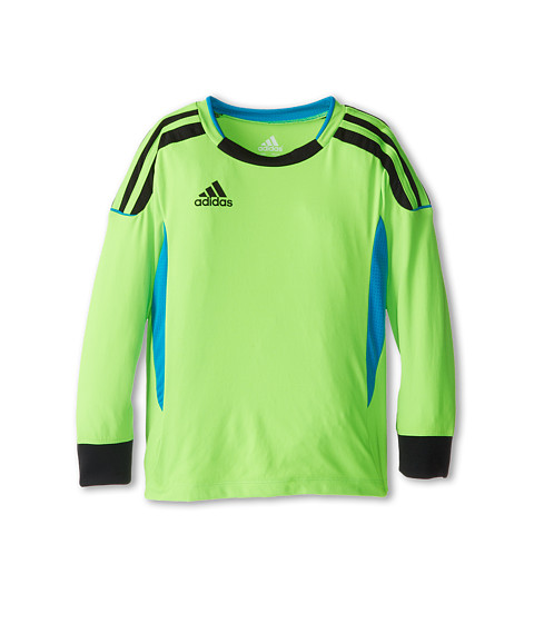 adidas Kids - Clima Soccer Jersey Top (Toddler/Little Kids) (Solar Green) Boy's Long Sleeve Pullover