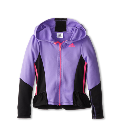 adidas Kids - Warmrunner Jacket (Toddler/Little Kids) (Purple) Girl's Jacket