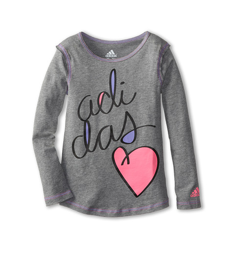 adidas Kids - Forever Tee (Toddler/Little Kids) (Grey) Boy