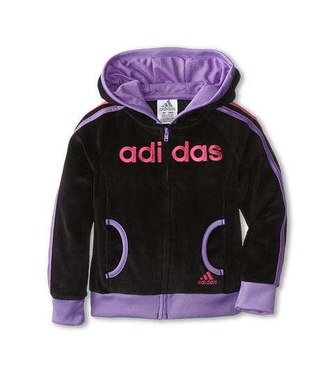 adidas Kids - Haute Velour Jacket (Toddler/Little Kids) (Black) Girl