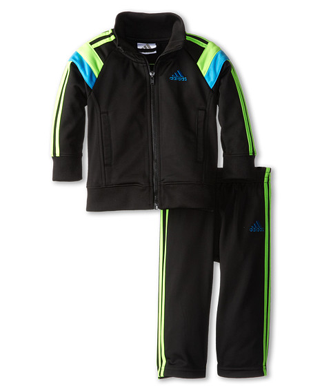 adidas Kids - Anthem Tricot Set (Infant) (Black) Boy's Workout Sets