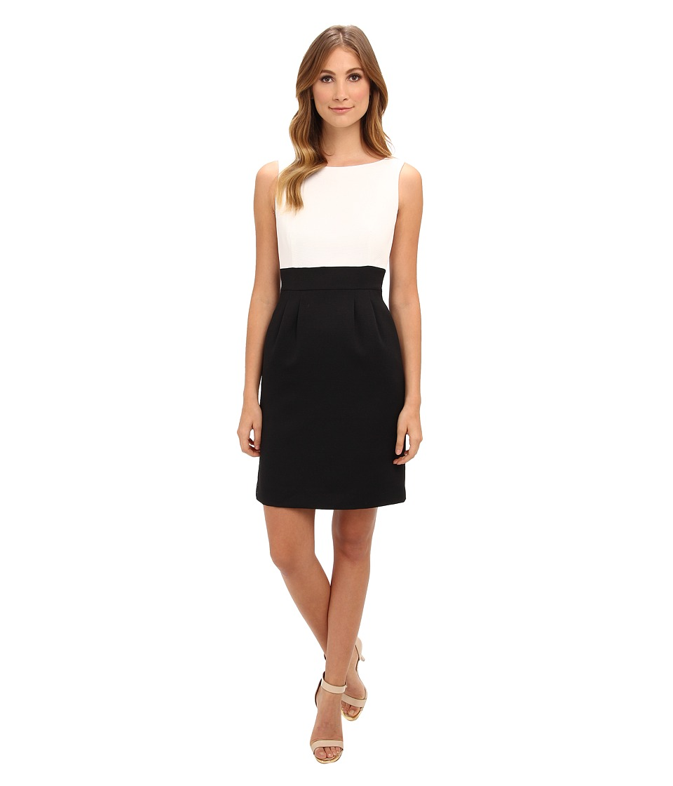 Tahari by ASL - Dave-W (Black/White) Women's Dress