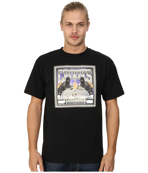Crooks & Castles - No Limit Knit Crew T-Shirt (Black) Men