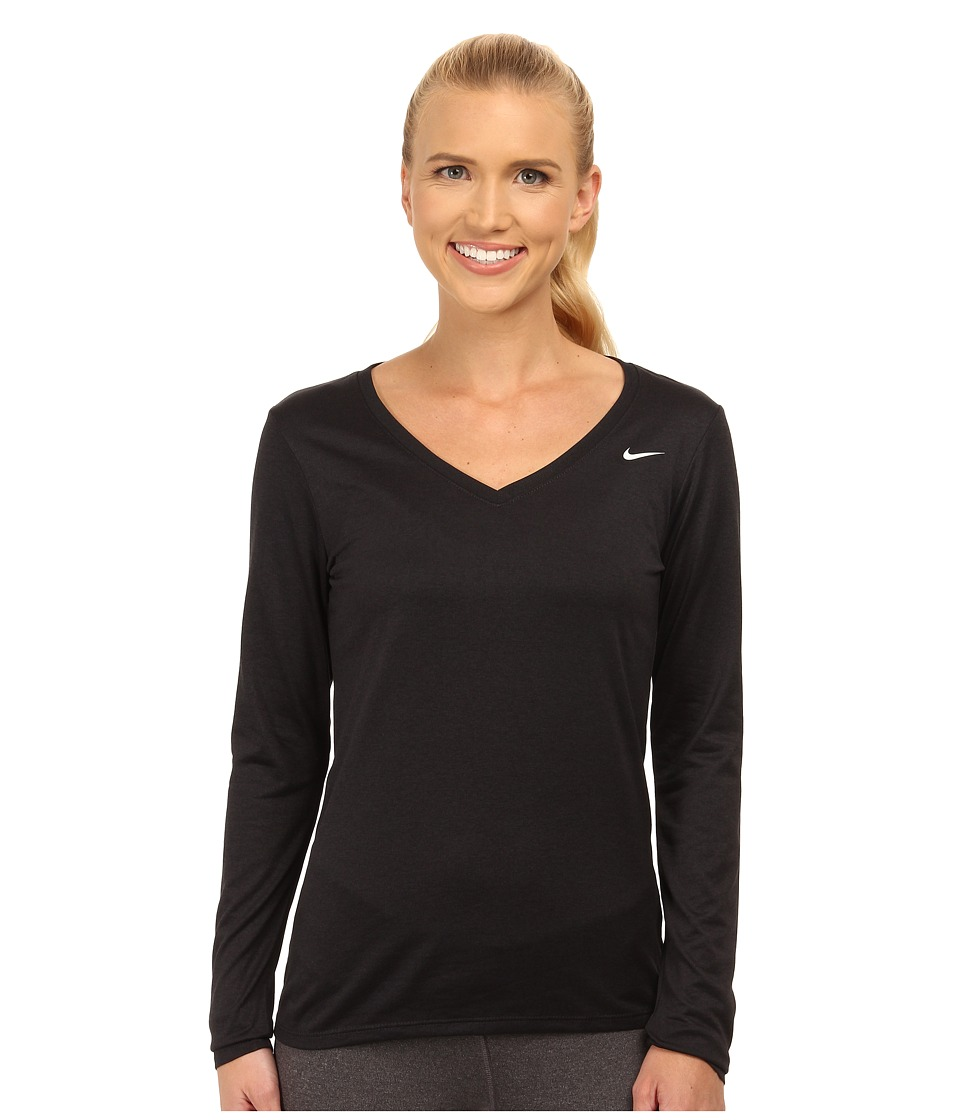 Nike - Legend 2.0 Training Top (Black/Black) Women's Long Sleeve Pullover