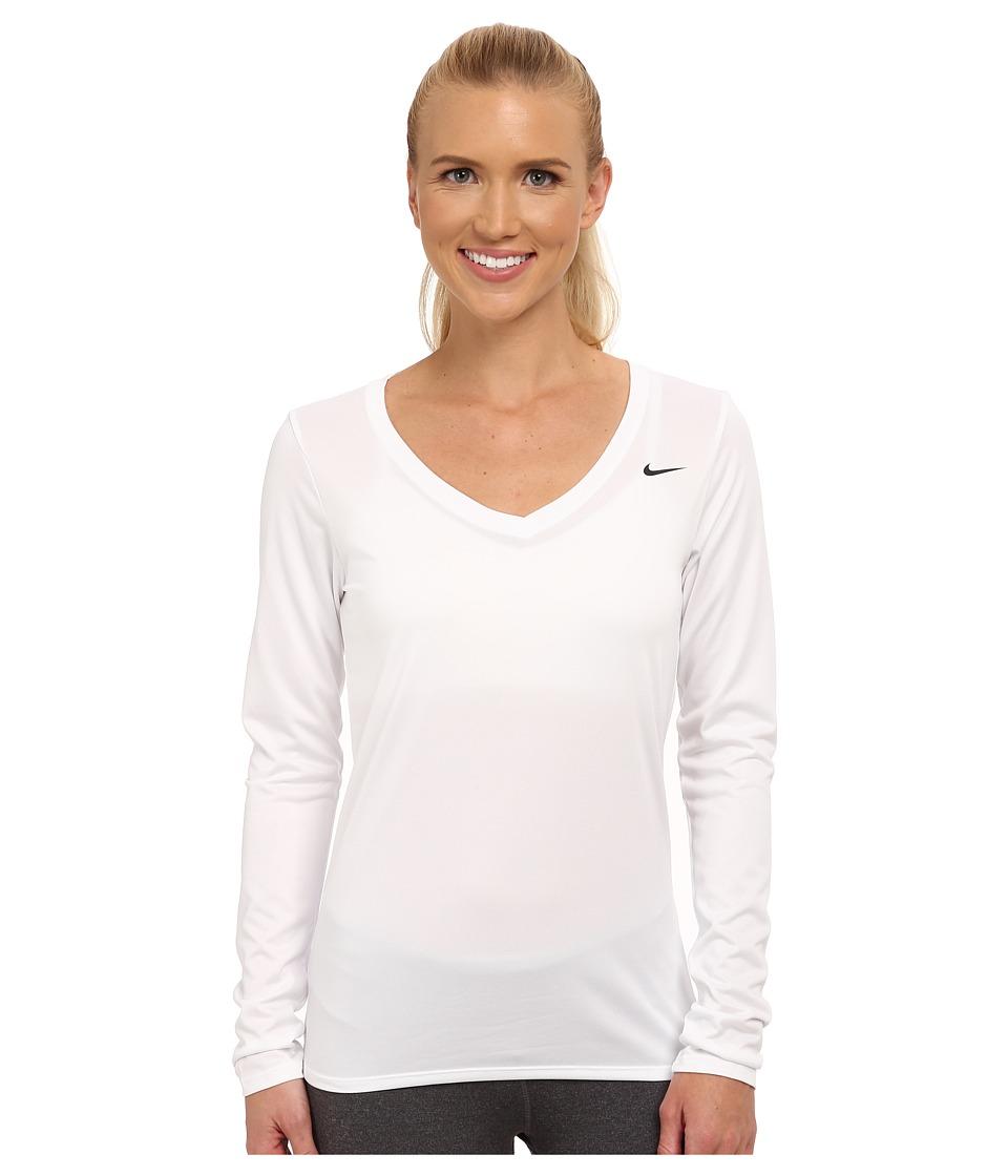 Nike - Legend 2.0 Training Top (White/White) Women's Long Sleeve Pullover