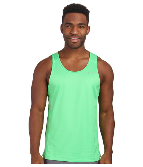 Nike - Miler Singlet (Team) (Light Green Spark/Light Green Spark/Reflective Silver) Men
