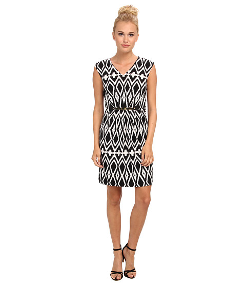 Tahari by ASL - Nathan - M (Black/White) Women