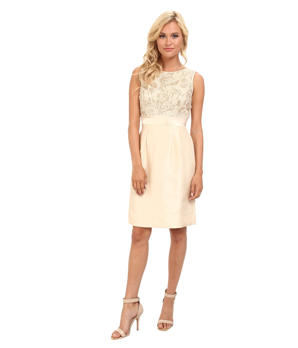 Tahari by ASL - Barry - Z (Ivory/Gold) Women's Dress