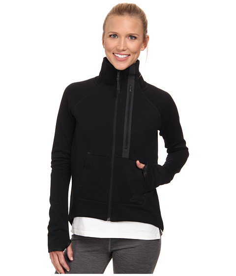 Nike - Tech Fleece Moto Cape (Black/Black/Black) Women's Coat