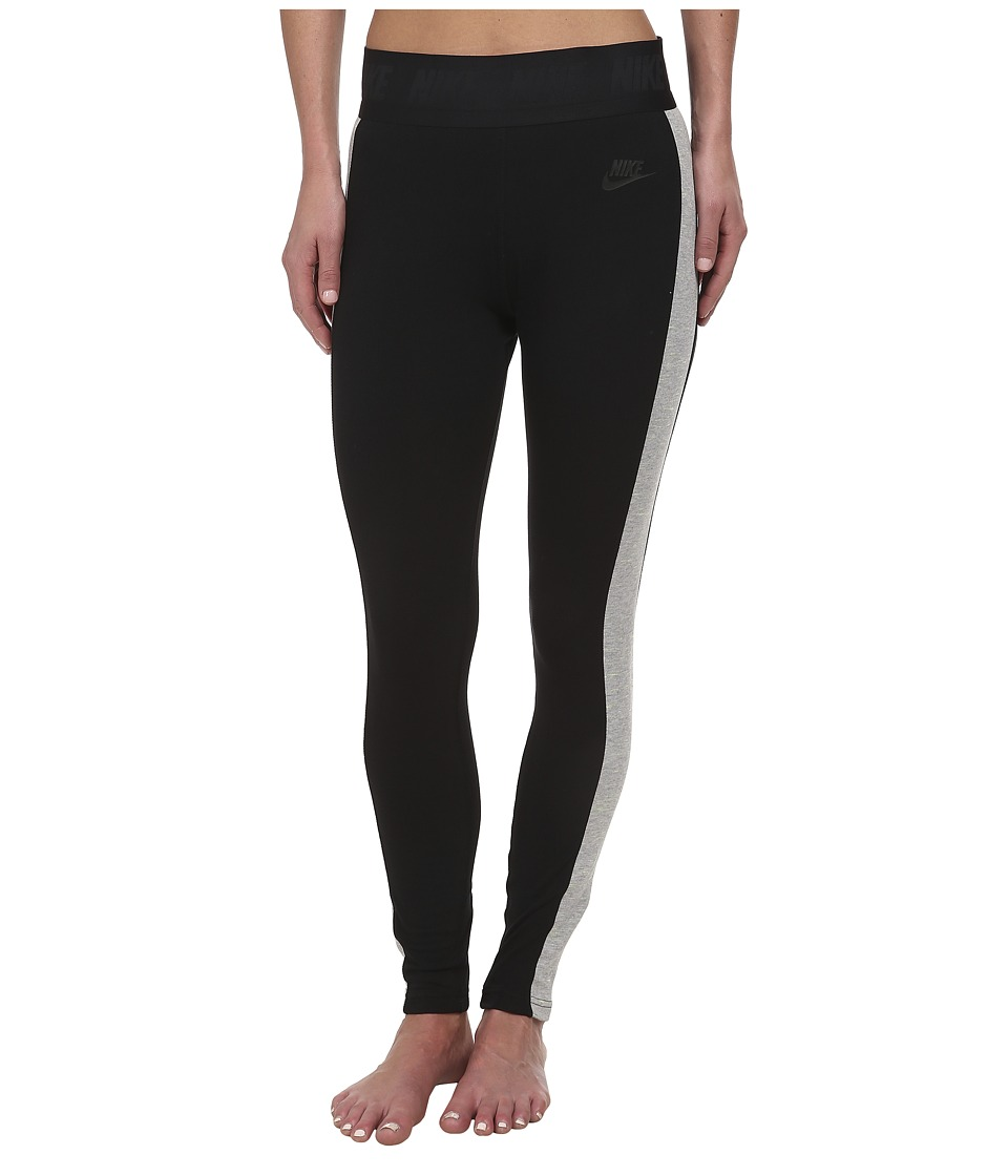 Nike - Tech Fleece Legging (Black/Dark Grey Heather/Black) Women's Workout