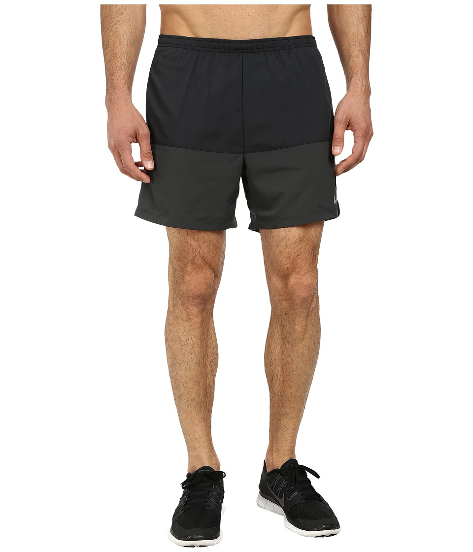 Nike - 5 Distance Running Short (Black/Anthracite/Reflective Silver) Men's Shorts