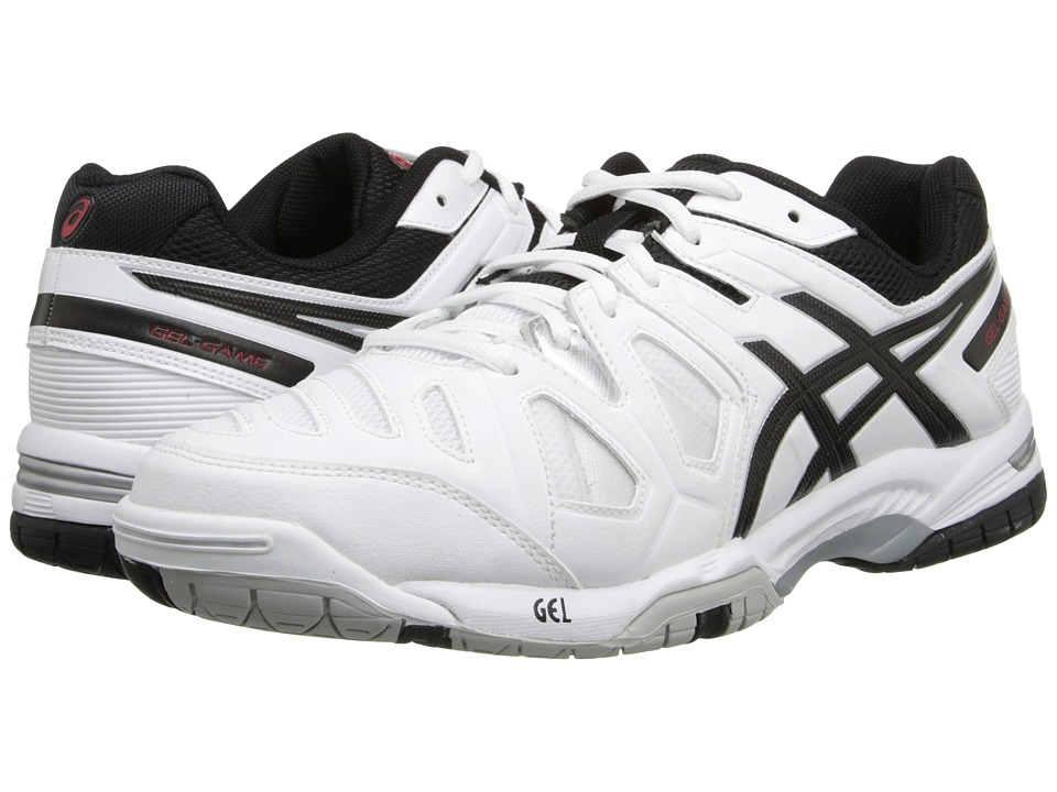 ASICS - Gel-Game 5 (White/Onyx/Chinese Red) Men's Tennis Shoes