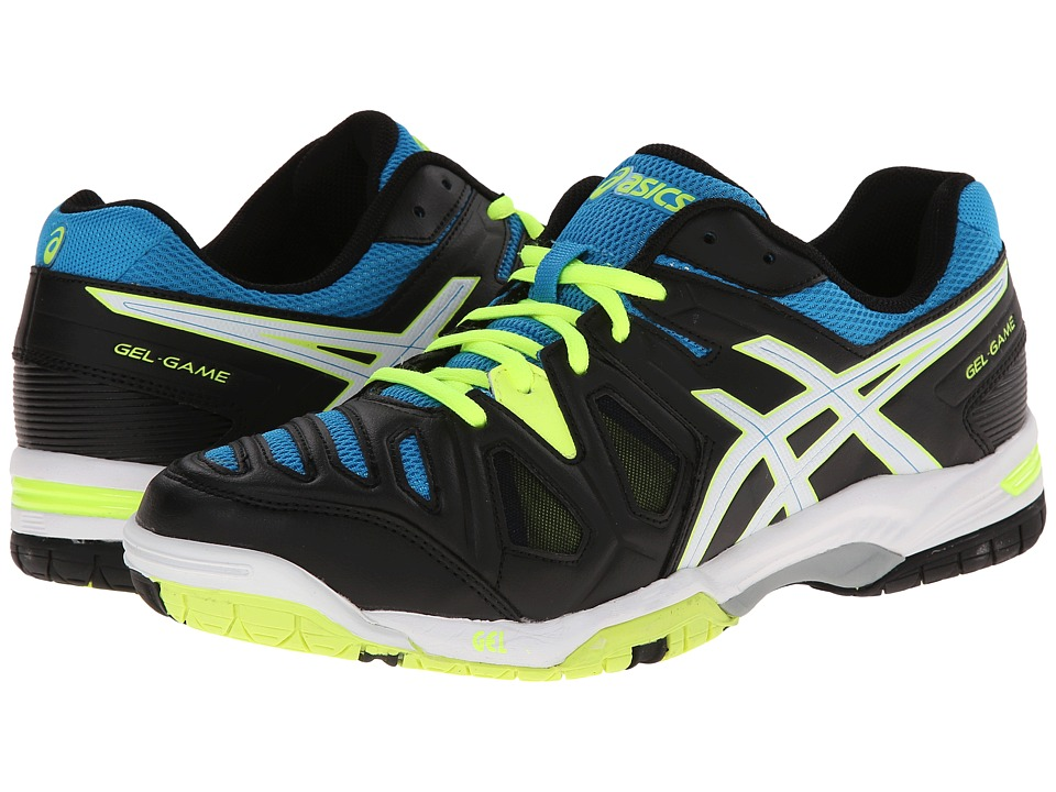 ASICS - Gel-Game 5 (Onyx/White/Atomic Blue) Men's Tennis Shoes