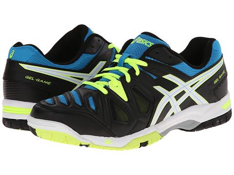 ASICS - Gel-Game 5 (Onyx/White/Atomic Blue) Men's Tennis Shoes