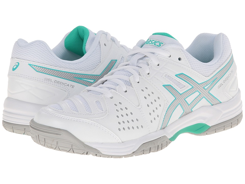 ASICS - Gel-Dedicate 4 (White/Silver/Mint) Women's Shoes
