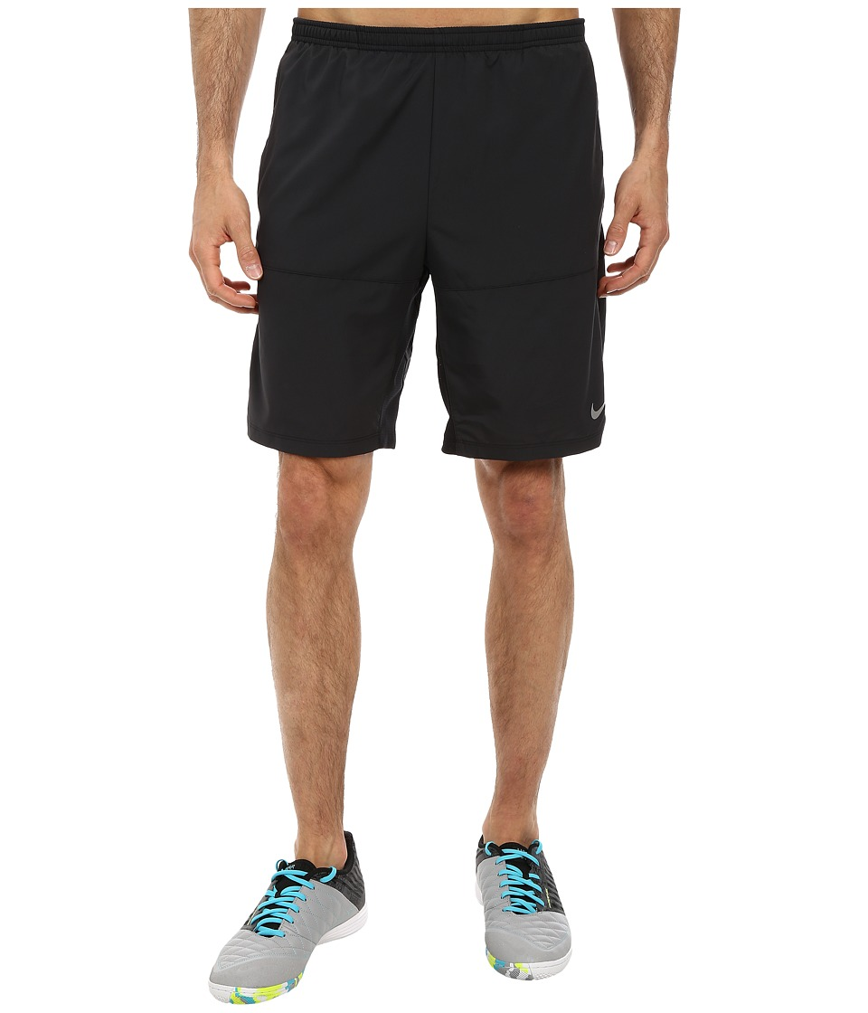 Nike - 9 Distance Running Short (Black/Black/Reflective Silver) Men's Shorts