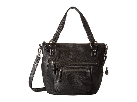 The Sak Mariposa Satchel (Black) Satchel Handbags