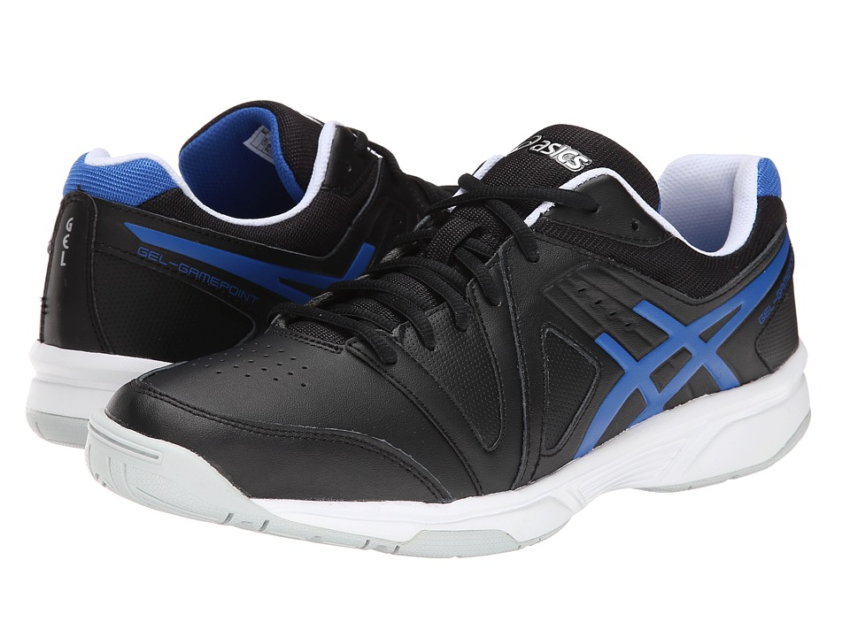 ASICS - Gel-Gamepoint (Black/Jet Blue) Men's Tennis Shoes