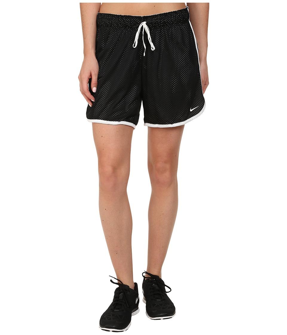 Nike Dri-FITtm Drill Mesh Short (Black/White/White) Women