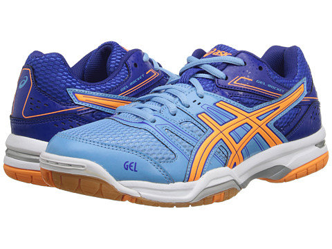 ASICS - GEL-Rocket 7 (Soft Blue/Nectarine/Deep Blue) Women's Shoes