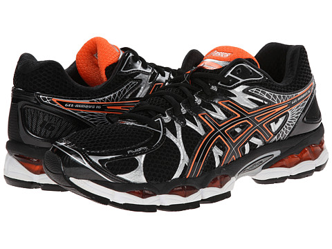 ASICS - GEL-Nimbus 16 (Black/Onyx/Orange) Men's Running Shoes