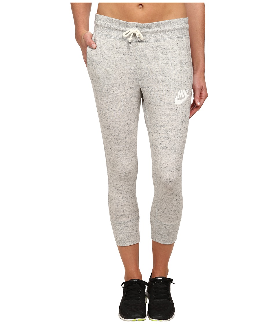Nike - Gym Vintage Capris (Grey Heather/Sail) Women's Casual Pants