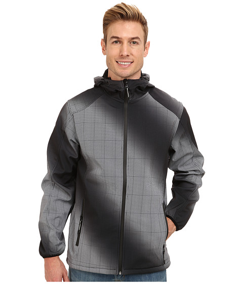 Roper - Softshell Tie Dye Jacket w/ Hood (Black) Men's Coat
