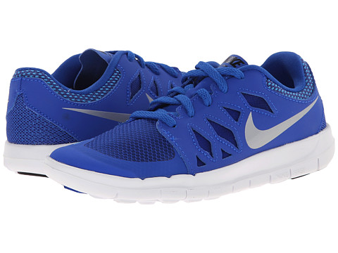 Nike Kids - Free 5 (Little Kid) (Lyon Blue/Blue Lagoon/White/Metallic Silver) Kids Shoes