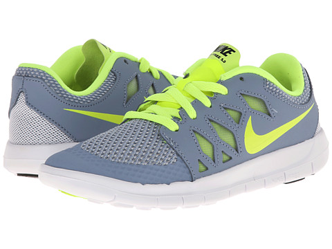 Nike Kids - Free 5 (Little Kid) (Cool Blue/Wolf Grey/White/Volt) Kids Shoes