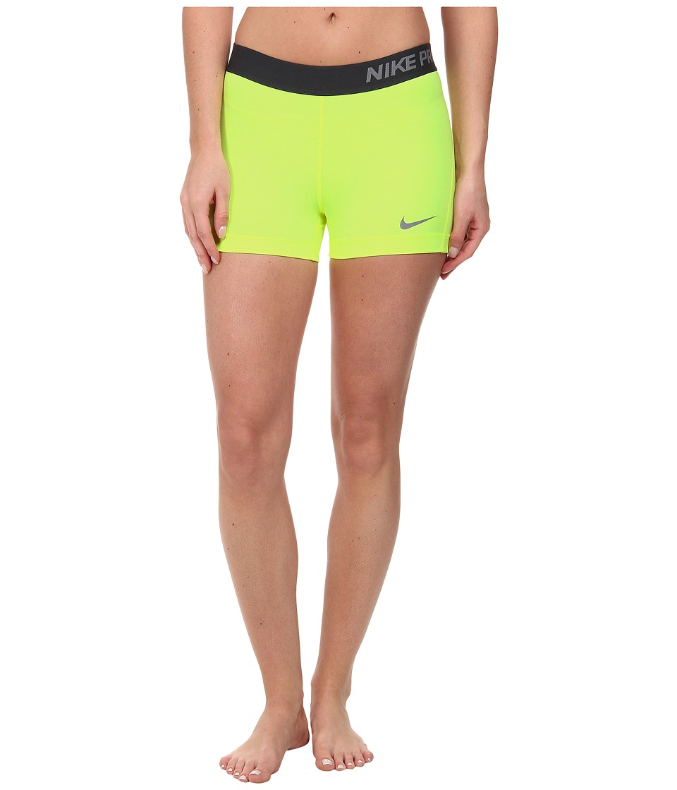 Nike - Pro Three-Inch Short (Volt/Cool Grey) Women's Shorts
