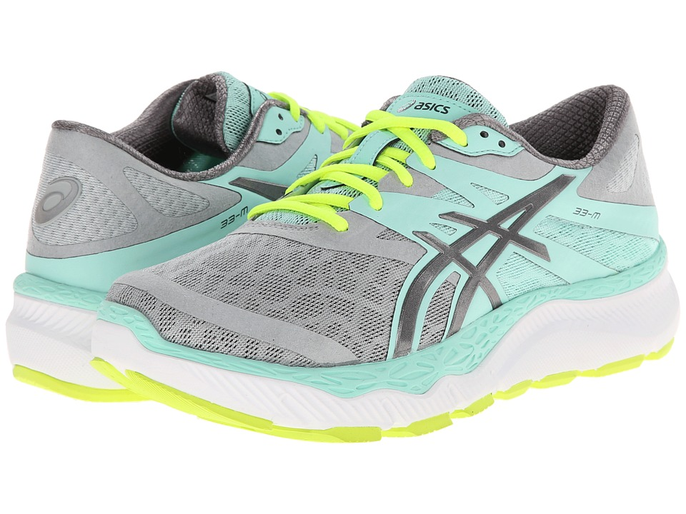 ASICS - 33-M (Gray/Charcoal/Mint) Women
