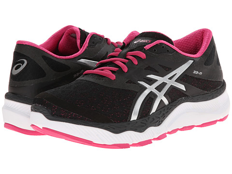 ASICS - 33-M (Onyx/Silver/Hot Pink) Women's Running Shoes