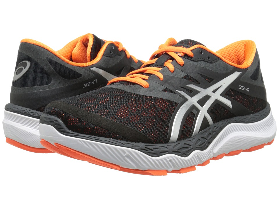 ASICS - 33-Mtm (Onyx/Silver/Flash Orange) Men's Running Shoes