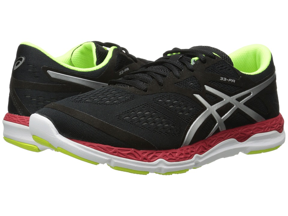 ASICS - 33-FA (Onyx/Flash Yellow/Chinese Red) Men's Running Shoes