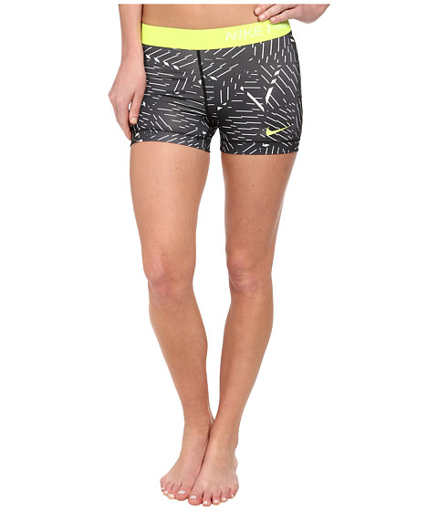 Nike - Pro Bash 3 Short (White/Black/Volt) Women