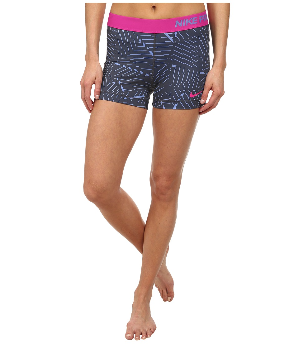 Nike - Pro Bash 3 Short (Polar/Anthracite/Hot Pink) Women's Shorts