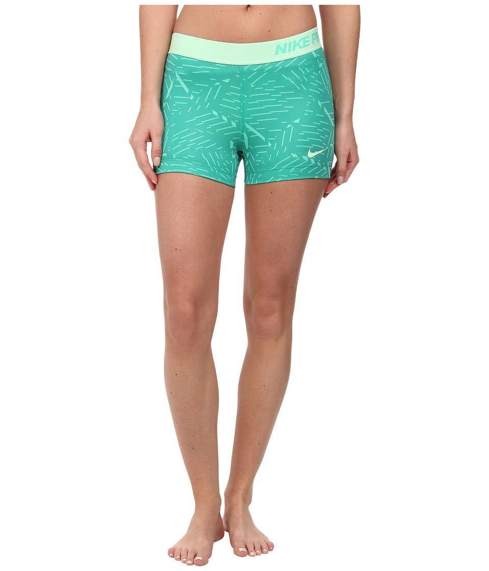 Nike - Pro Bash 3 Short (Menta/Emerald Green/Vapor Green) Women's Shorts