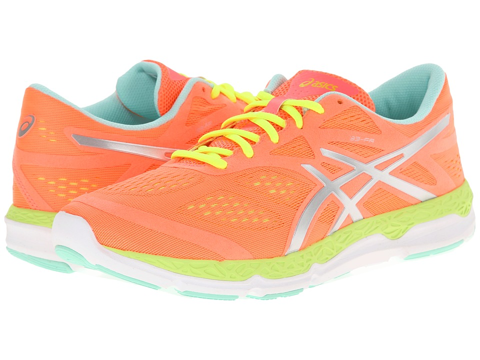 ASICS - 33-FA (Coral/Flash Yellow/Mint) Women's Running Shoes