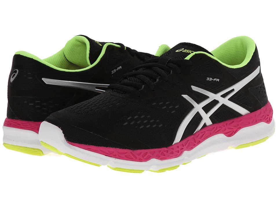 ASICS - 33-FA (Onyx/Hot Pink/Flash Yellow) Women's Running Shoes
